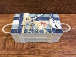 Caja marinera para decorar - 15 cm.