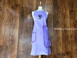 Delantal + paño algodón Lavanda violeta