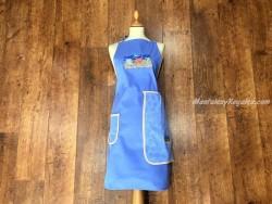 Delantal + paño algodón Hamacas azul