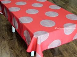 Mantel antimanchas - Modelo CERCLES - Rojo