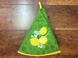Paño redondo de cocina - Modelo LIMONES - Verde