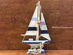 Barco decorativo de madera - 31 cm.