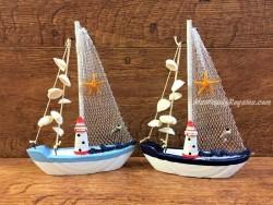 Barco con conchas de 22 cm. modelo aleatorio