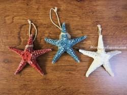 Estrella de mar de resina - 13 cm. (3 colores diferentes para elegir)