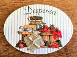 Placa de puerta para Despensa con tarro mermelada (con texto DESPENSA)