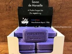 Jabón vegetal de VIOLETA - 100 gr.