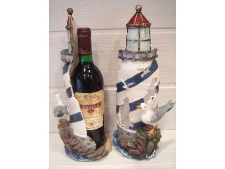 Porta botellas - Modelo Faro (color azul y blanco)