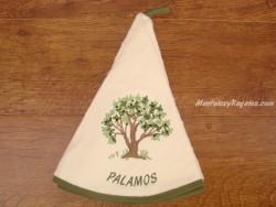 Paño redondo de cocina - Modelo ÁRBOL PALAMÓS - Crema