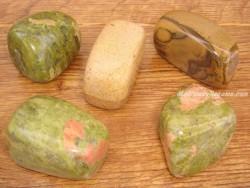 Piedras pulidas Unaquita