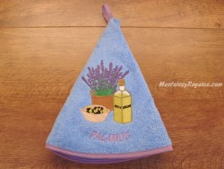 Paño redondo de cocina - Modelo BOTELLA DE ACEITE PALAMÓS - Azul