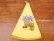 Paño redondo de cocina - Modelo BOTELLA DE ACEITE - Amarillo