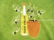Paño redondo de cocina - Modelo BOTELLA DE ACEITE 2 - Verde