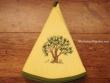 Paño redondo de cocina - Modelo ÁRBOL - Amarillo