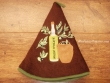 Paño redondo de cocina - Modelo BOTELLA DE ACEITE 2 - color Chocolate