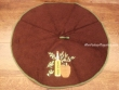 Paño redondo de cocina - Modelo BOTELLA DE ACEITE 2 - Chocolate