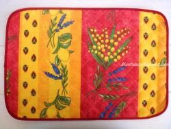Mantel individual Antimanchas - Modelo LIMONES Y MIMOSA - Rojo