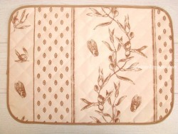 Mantel individual Antimanchas - Modelo CIGARRAS Y OLIVAS - Beige