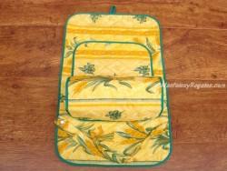Porta rollos papel cocina - Modelo TRIGO 01 - Amarillo