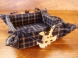 Panera de mesa cuadrada - Modelo VACA - (Color azul)