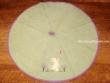 Paño redondo de cocina - Modelo GATO Y MARIPOSA - Verde
