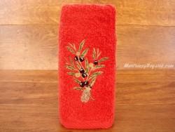 Toalla de Manos - Modelo OLIVAS (color rojo)