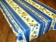 Mantel Antimanchas de Poliéster - Modelo GIRASOL ABEJA - Azul