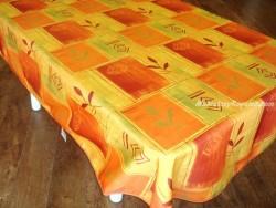 Mantel Antimanchas de Poliéster - Modelo SEÑALES - Naranja
