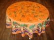 Mantel Antimanchas - Modelo OLIVAS Y ÁRBOLES - Naranja (foto solo del mantel redondo de 1,80 mt.)