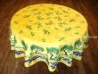 Mantel Antimanchas - Modelo OLIVAS Y ÁRBOLES - Amarillo (foto solo del mantel redondo de 1,80 mt.)