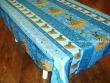 Mantel Antimanchas de Poliéster - Modelo ESPIGAS DE TRIGO - Azul