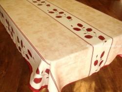 Mantel Antimanchas de Poliéster - Modelo FEUILLE - Rojo