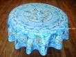 Mantel Antimanchas - Modelo GLYCINE - Azul (foto solo del mantel redondo de 1,80 mt.)
