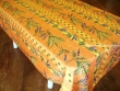 Mantel Antimanchas de Poliéster - Modelo LIMONES Y MIMOSA - Naranja