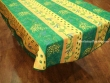 Mantel Antimanchas de Poliéster - Modelo LIMONES Y MIMOSA - Verde