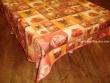 Mantel de Algodón Resinado - Modelo CAPUCCINO - Naranja
