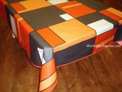 Mantel de Algodón Resinado - Modelo BACH - Naranja