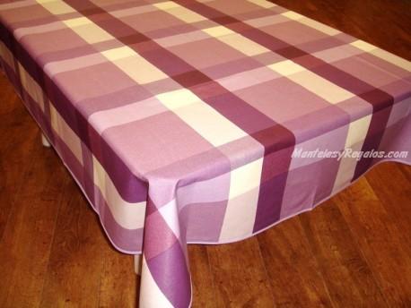 Mantel de Algodón Resinado - Modelo VALLÉS - Violeta