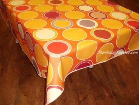 Mantel de Algodón Resinado - Modelo BRISTOL - Naranja