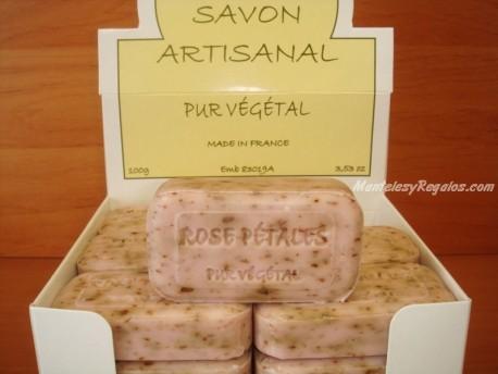 Jabón Puro Vegetal de Pétalos de Rosa