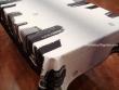 Mantel Antimanchas de Poliéster - Modelo NUEVA YORK RASCACIELOS - Blanco