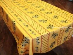Mantel Antimanchas de Poliéster - Modelo PLACÉ OLIVOU - Amarillo