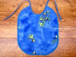 Babero bebé - Modelo OLIVAS Y ÁRBOLES - Azul fuerte