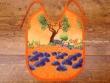Babero bebé - Modelo OLIVAS Y ÁRBOLES - Naranja