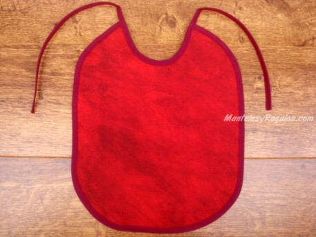 Babero bebé - Modelo UNICOLOR - Rojo