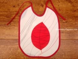 Babero bebé - Modelo FEUILLES TRESEES - Rojo
