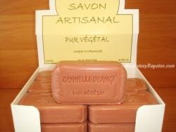 Jabón Puro Vegetal de Canela y Naranja