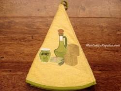 Paño redondo de cocina - Modelo ACEITERA - Amarillo