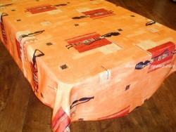 Mantel Antimanchas de Poliéster - Modelo ÁFRICA 02 - Naranja