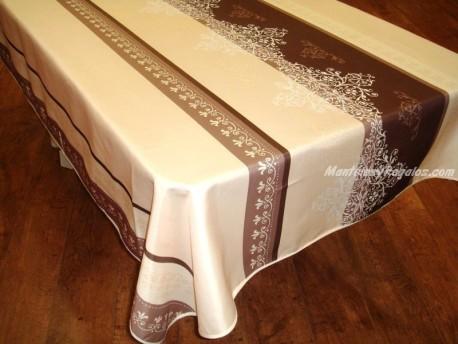 Mantel Antimanchas de Poliéster - Modelo MANOSQUE - Crema