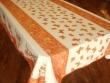 Mantel Antimanchas de Poliéster - Modelo MARIPOSAS - Naranja